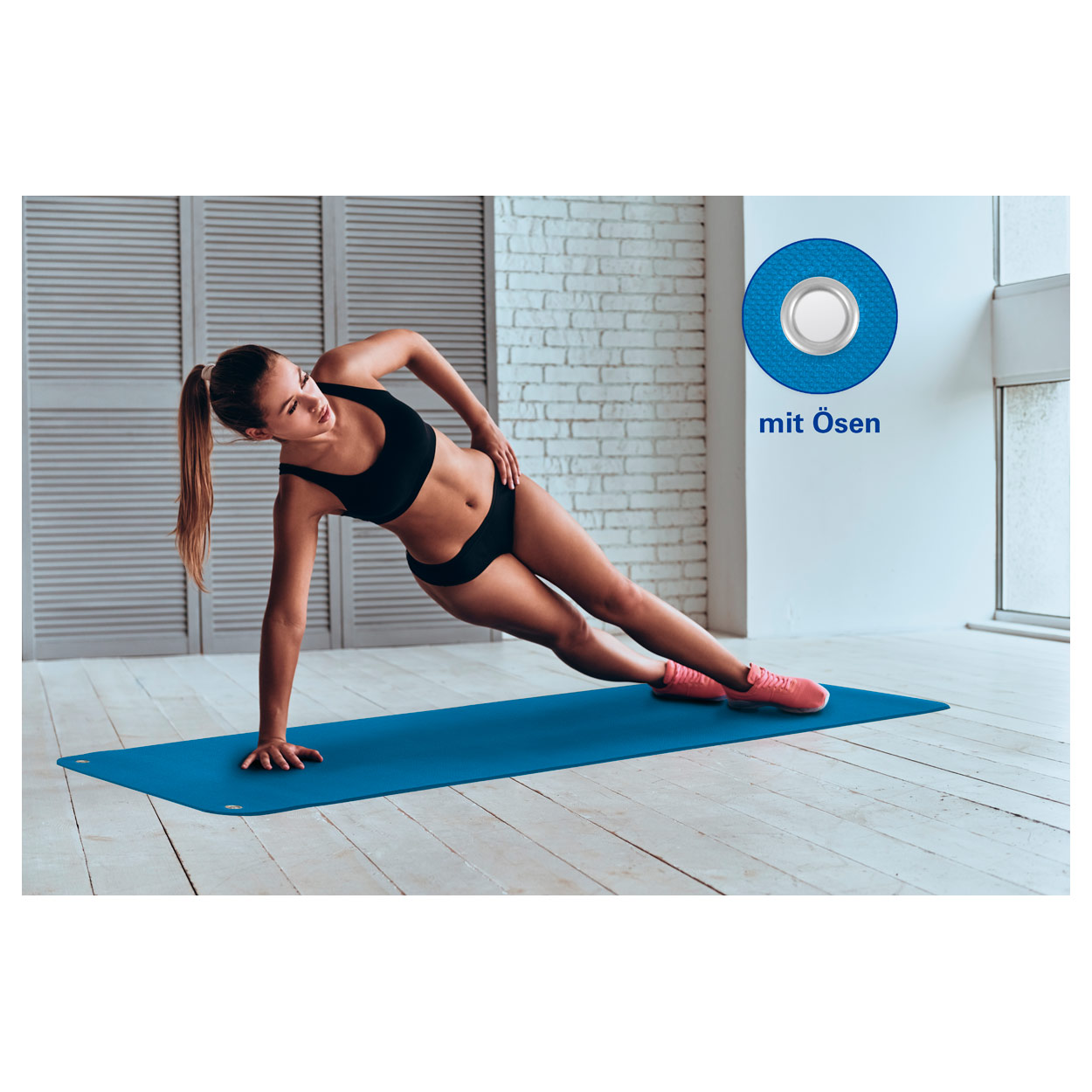 AIREX Gymnastikmatte Coronella inkl /Ösen Turnmatte Sportmatte Fitnessmatte 200cm