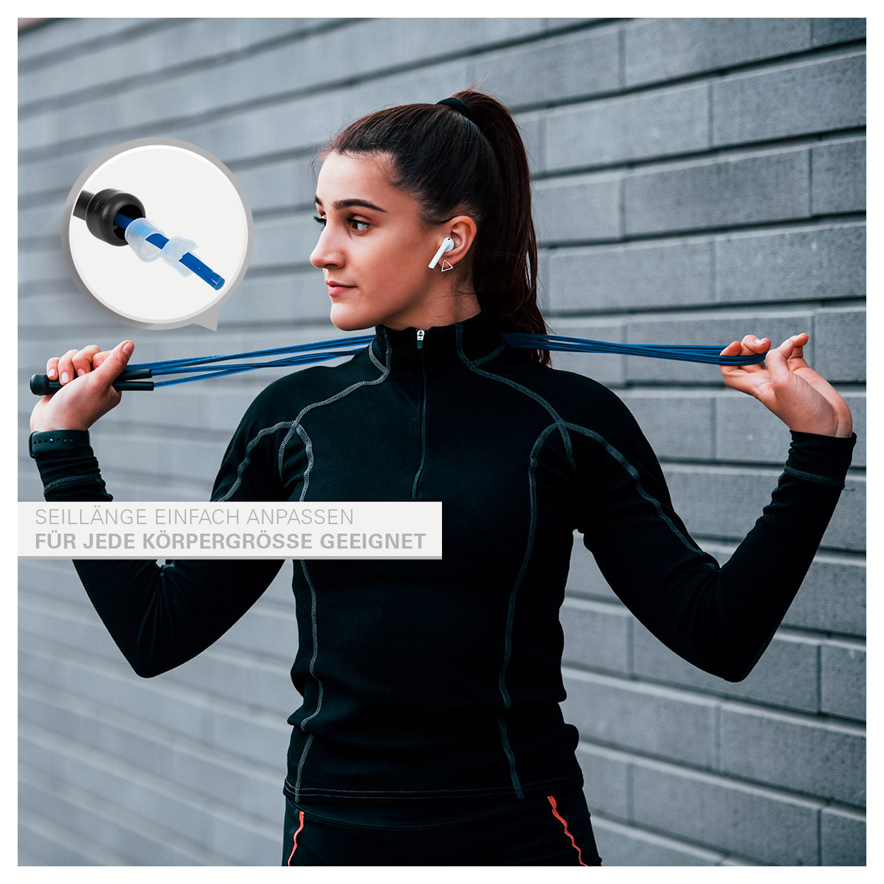 Gymnastik & Fitness: Speed Rope, verstellbar, 300 cm