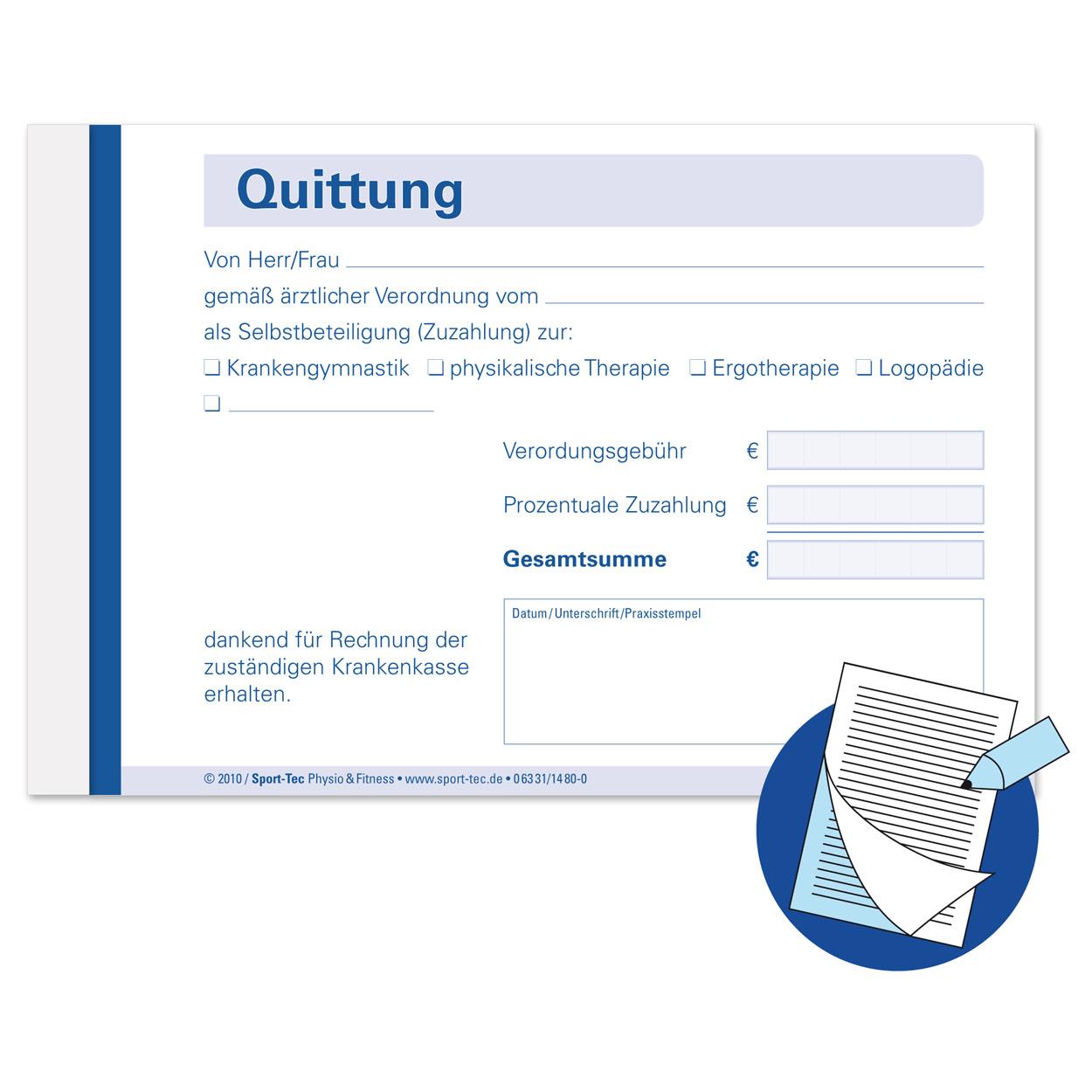 Quttungsblock Quittungsbuch Quittung Quittungen 5x50 Blatt ...