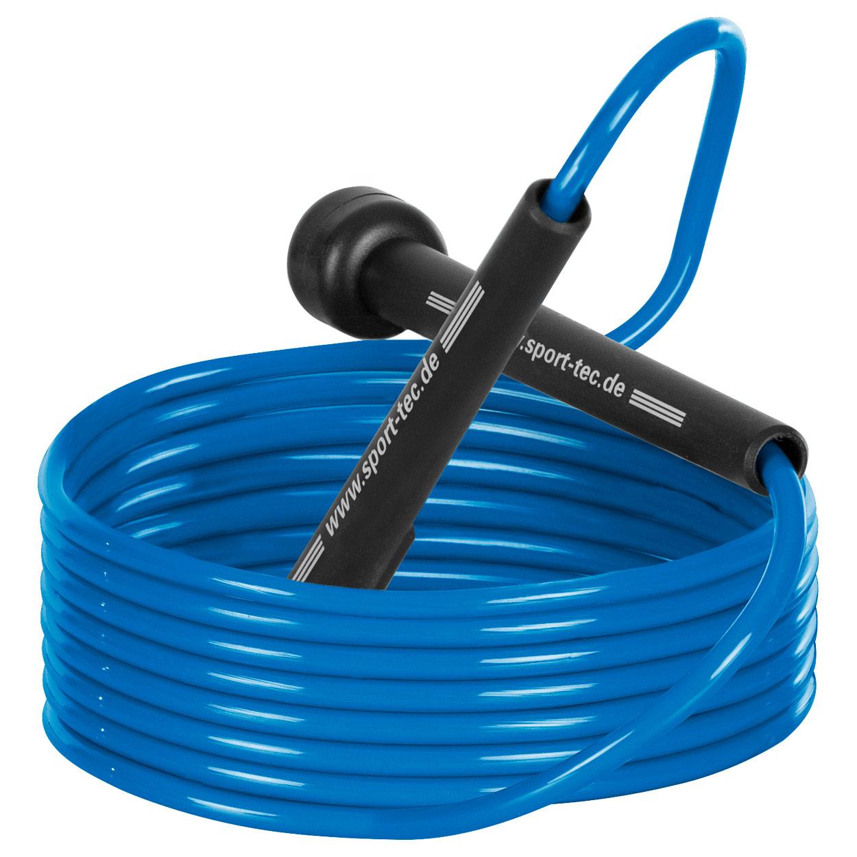 Sporttrend 24 Springseil Kugelgelenk und L/ängen verstellbar MMA Speed Jump Rope Stahlseil zum Boxen Ausdauertraining