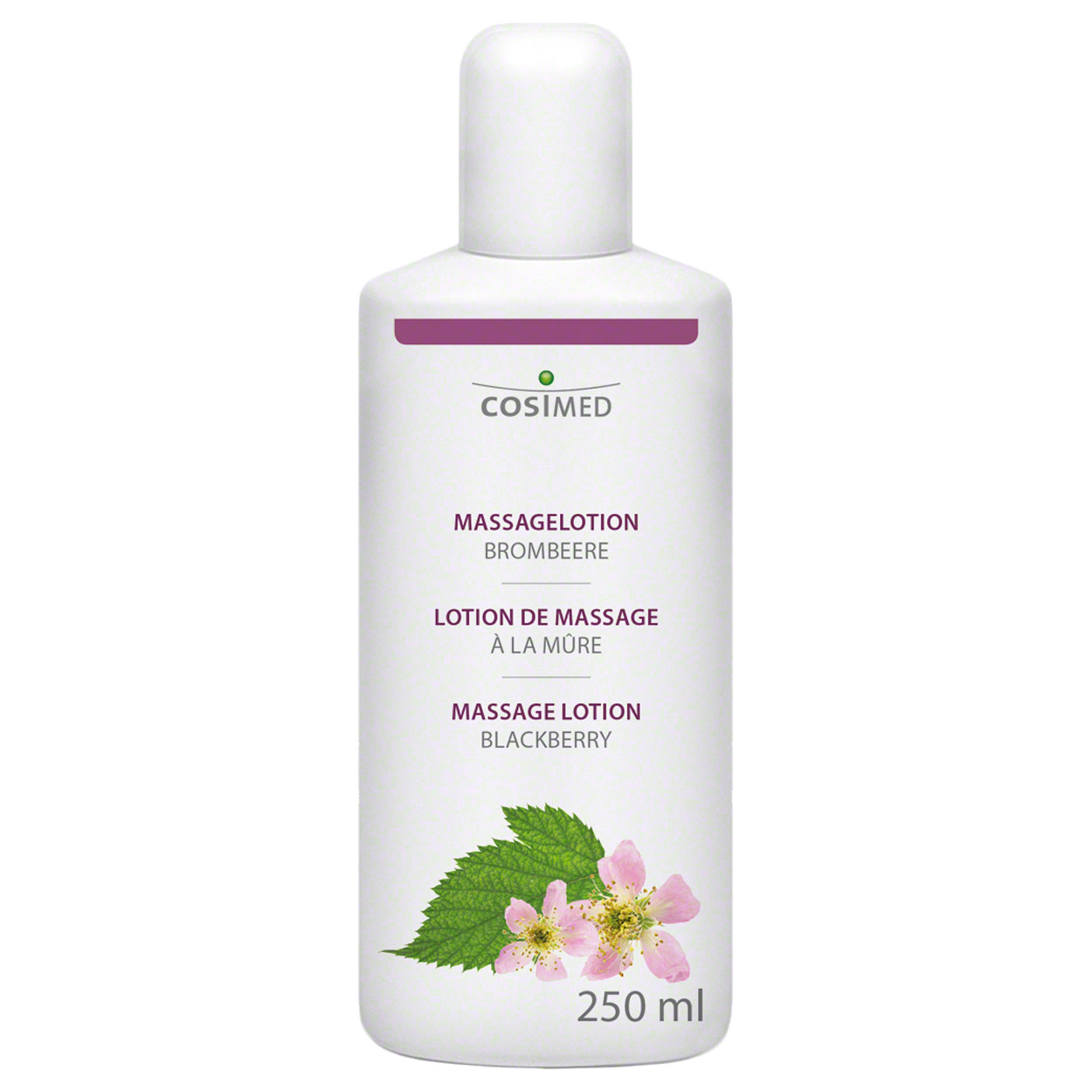 Therapiebedarf: cosiMed Massagelotion Brombeere, 250 ml
