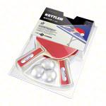 Kettler Tischtennis Zubehör - KETTLER Tischtennisschläger-Set Match: 2 Tischtennisschläger + 3 Tischtennisbälle