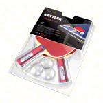 Kettler Tischtennis Zubehör - KETTLER Tischtennisschläger-Set Champ: 2 Tischtennisschläger + 3 Tischtennisbälle