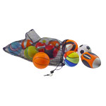Sportball - Mini Sportball-Set aus PU-Schaum im Netz, ø 10 cm, 12 Stück