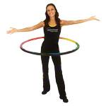 Gymnastikreifen - Powerhoop Deluxe, Ø 100 cm, 1,6 - 2,2 kg, inkl. DVD 7 Min.