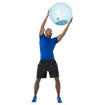 Gymnastikbälle - BOSU Ballast Ball, Ø 65 cm, blau