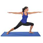 Trainingsmatte - Yogamatte, LxBxH 180x60x0,4 cm, blau