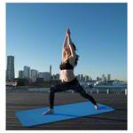 Pilates - Pilates- und Yogamatte, LxBxH 180x60x0,6 cm, blau