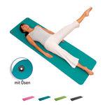 Yoga Matte - AIREX Gymnastikmatte Fitline 180 inkl. Ösen, LxBxH 180x60x1 cm