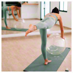 Opti-Ball Gymnastikball transparent, ø 75 cm
