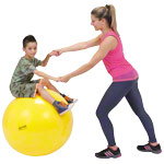 Gymnic Gymnastikball - GYMNIC Gymnastikball, ø 75 cm, gelb