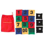 Bohnensäckchen - Bohnensäckchen mit Zahlen-Set, 12x12 cm, 15-tlg.