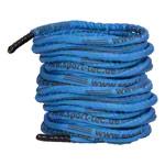 Fitness Gymnastik - Fitness Tau Battle Rope ummantelt, ø 3 cm x 30 m, blau, 10,5 kg