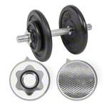 Krafttraining - Kurzhantel-Set, 15 kg, 5-tlg.