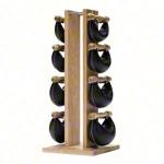 Fitnessbücher - NOHrD Swing Turm inkl. 8 Swing Hanteln, 40 kg, Eiche
