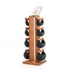 Fitnessbücher - NOHrD Swing Turm inkl. 8 Swing Hanteln, 26 kg, Kirsche