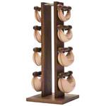 Fitnessbücher - NOHrD Swing Turm inkl. 8 Swing Hanteln, 26 kg, Nussbaum