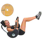 Tunturi - TUNTURI Bauchtrainer Power Roller inkl. Übungs-DVD