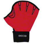 Aquajogging Handschuhe - BECO Neoprenhandschuhe mit Fingeröffnung, Gr. M, Paar, rot