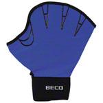 Aquajogging Handschuhe - BECO Neoprenhandschuhe mit Fingeröffnung, Gr. L, Paar, blau