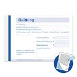 Liegenbezug - Quittungsblock durchschreibend, 5 Blöcke à 50 Sätze (500 Blätter), DIN A6 quer