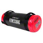Sportball - Gymstick Fitnessbag, 20 kg, rot, ø 25 cm x 60 cm, inkl. DVD