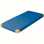 Turnmatten - Leichtturnmatte mit Lederecken, 150x100x8 cm