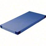 Turnmatten - Leichtturnmatte mit Klettecken, 200x100x6 cm
