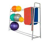 Pezzi Gymnastikball - Ballregal Exklusiv Basismodul für 9-18 Bälle bis ø 75 cm, 270x62x180 cm