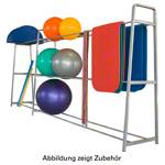 Physioball - Ballregal Exklusiv-Set Basis + Erweiterungsmodul, 405x62x180 cm, 2-tlg.