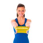 Gymnastikband - Thera-Band Loop, Ø 13 cm, 7,6x20,5 cm, leicht, gelb