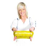 Fitness Gymnastik - Thera-Band Loop, Ø 20 cm, 7,6x30,5 cm, leicht, gelb