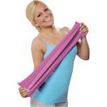 Gymnastikband - Physio Band, 25 m x 15 cm, mittel, rosa