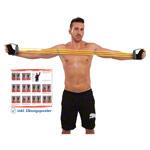 Fitness Expander - Expander Elastikon, 10-50 kg, gelb