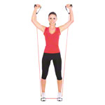 Fitness Tube, stark, rot, 10er Set
