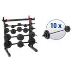 Hantelständer - pumpset!-Ständersystem mit 10 Langhantel-Set's