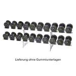 Krafttraining - Kompakthantel-Ständer-Set inkl. 10 Paar Hanteln, 2,5-25 kg, 21-tlg.
