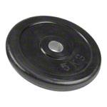 Sport Gewichte - Get-Fit Hantelscheibe aus Gummi, 5 kg, Stück
