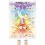 "Pilates - Lehrtafel ""Pilates Basic 10"", LxB 100x70 cm"