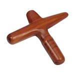 Massagestäbchen - Asiatisches Massagekreuz aus Holz, einteilig inkl. Triggerpunkt-Anleitung