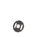 Hantel Gewichte - Olympia Hantelscheibe mit Gummiüberzug und Griff, Ø 5 cm, 1,25 kg, Stück