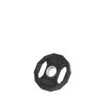 Sport Gewichte - Olympia Hantelscheibe mit Gummiüberzug und Griff, Ø 5 cm, 2,5 kg, Stück