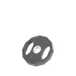 Hantel Gewichte - Olympia Hantelscheibe mit Gummiüberzug und Griff, ø 5 cm, 5 kg, Stück