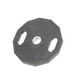 Sport Gewichte - Olympia Hantelscheibe mit Gummiüberzug und Griff, 15 kg, Stück