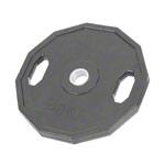 Sport Gewichte - Olympia Hantelscheibe mit Gummiüberzug und Griff, 20 kg, Stück
