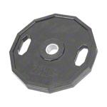 Sport Gewichte - Olympia Hantelscheibe mit Gummiüberzug und Griff, 25 kg, Stück