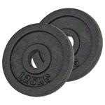 Fitness Gewichte - Bremshey Hantelscheibe aus Gußeisen, ø 3 cm, 1,25 kg, Paar