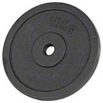 Fitness Gewichte - Bremshey Hantelscheibe aus Gußeisen, ø 3 cm, 10 kg, Stück