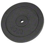 Hantel Gewichte - Hantelscheibe aus Gußeisen, 20 kg, Stück