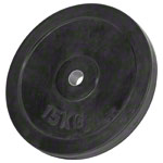 Sport Gewichte - Hantelscheibe mit Gummiüberzug, 15 kg, Stück